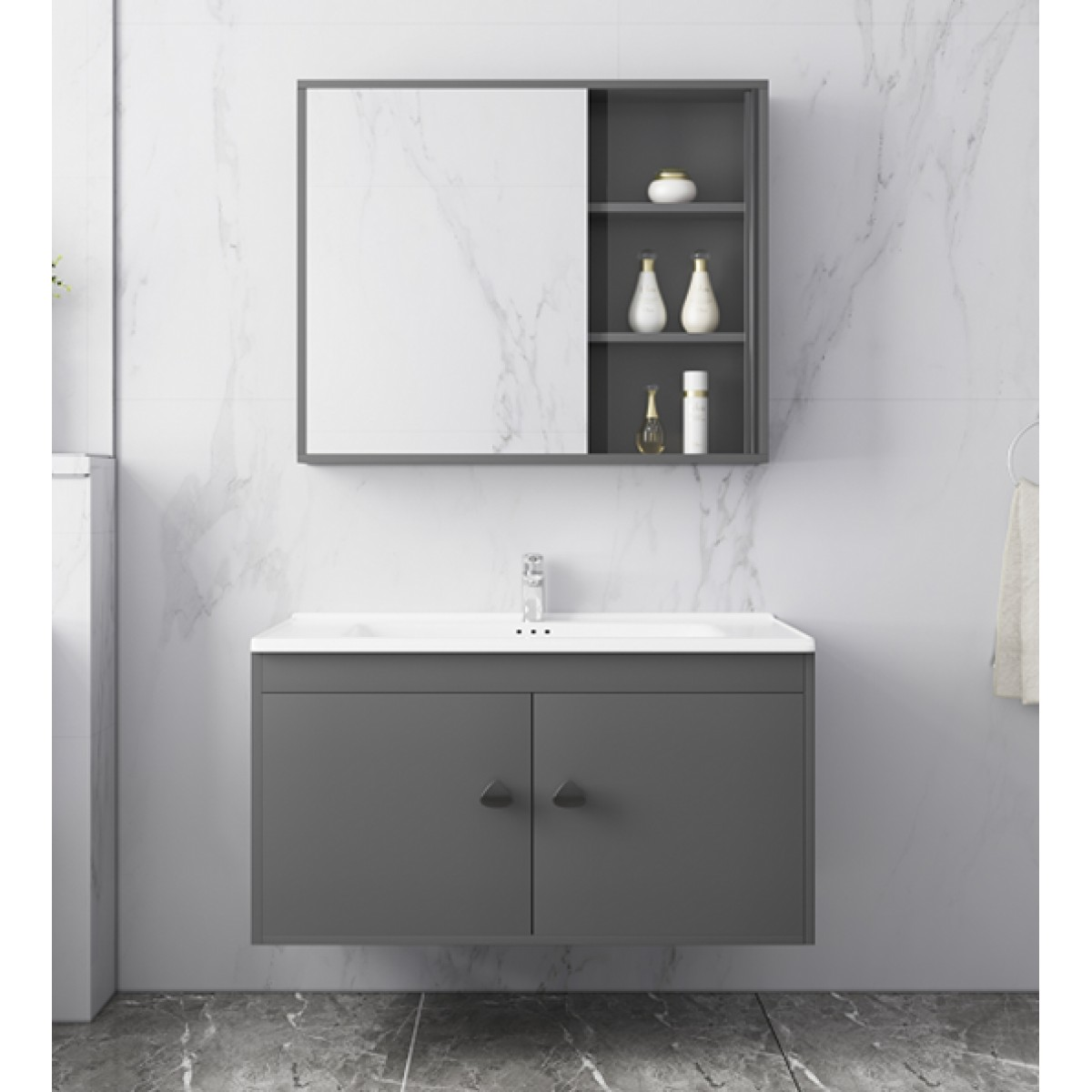 陶的卫浴 多层实木浴室柜 TD-86114-80