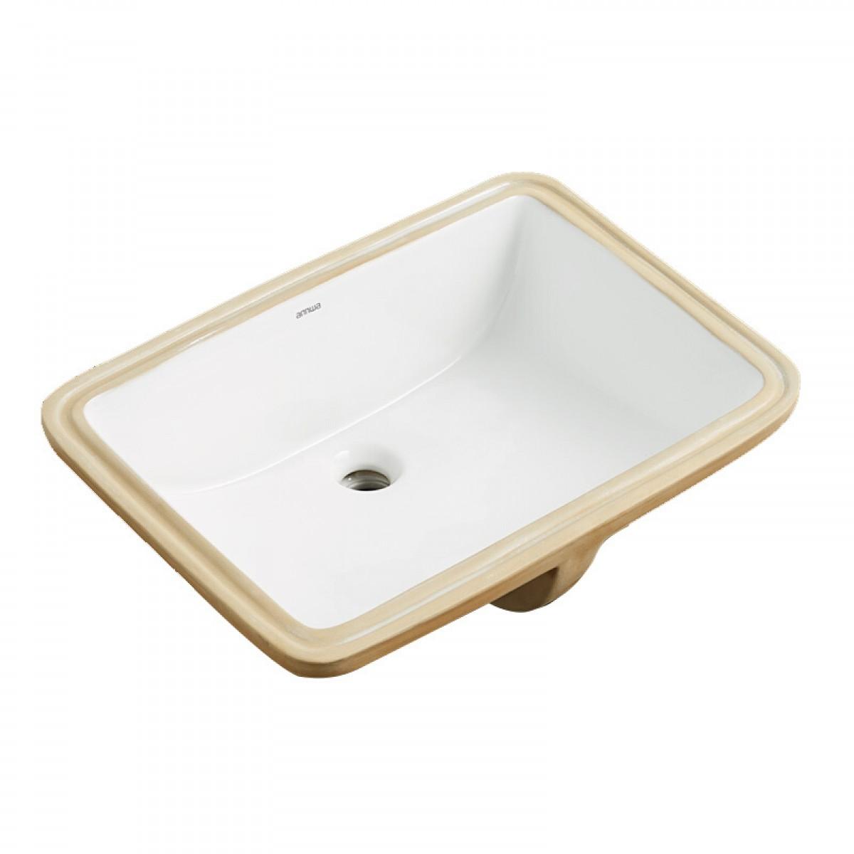 安华卫浴 台下盆小陶瓷洗手盆卫生间面盆台盆NT07(原型号ap43002)