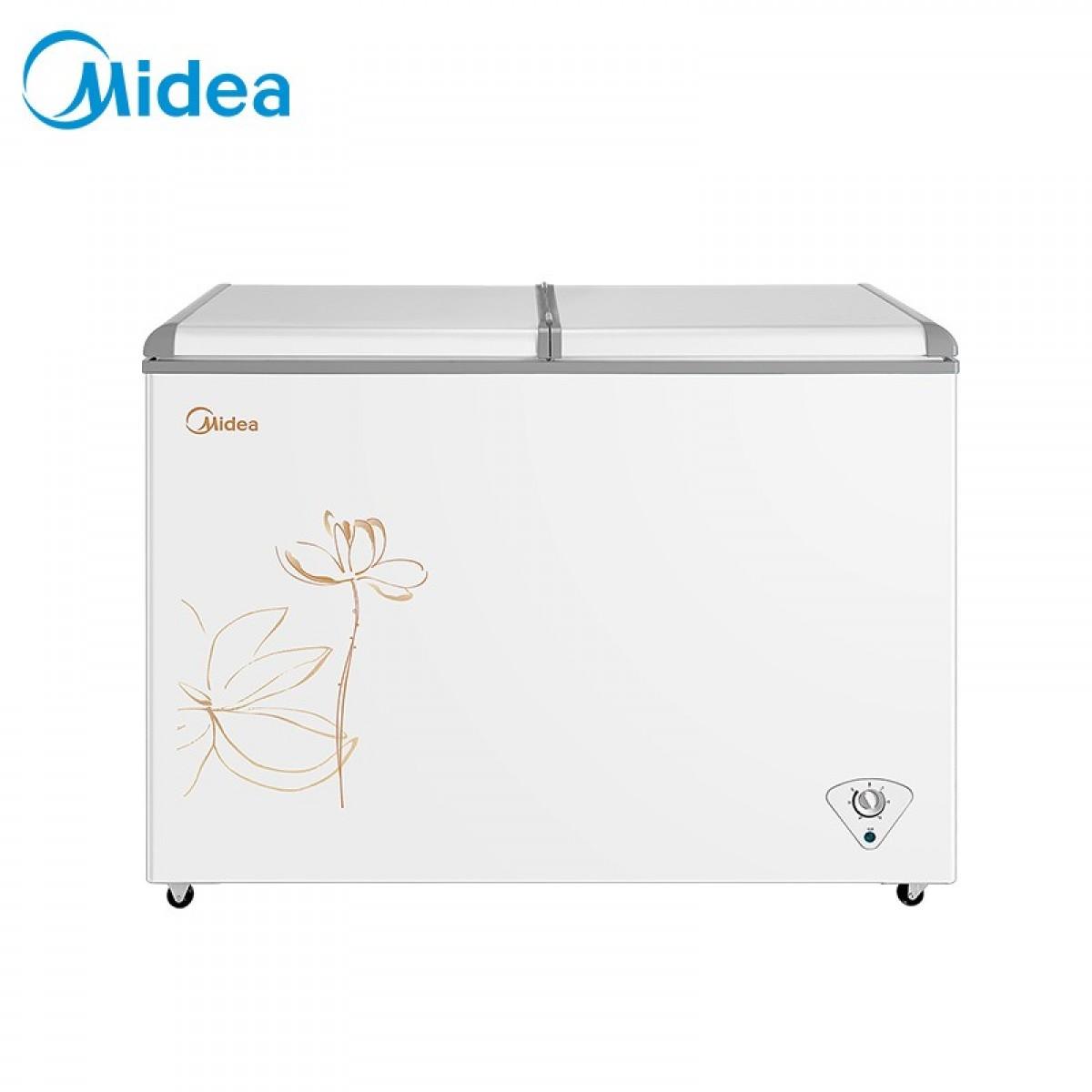 美的(Midea)271升冷柜卧式双温冰柜冷冻柜冷藏柜家用冷柜玻璃门盖门 BCD-271VMQ