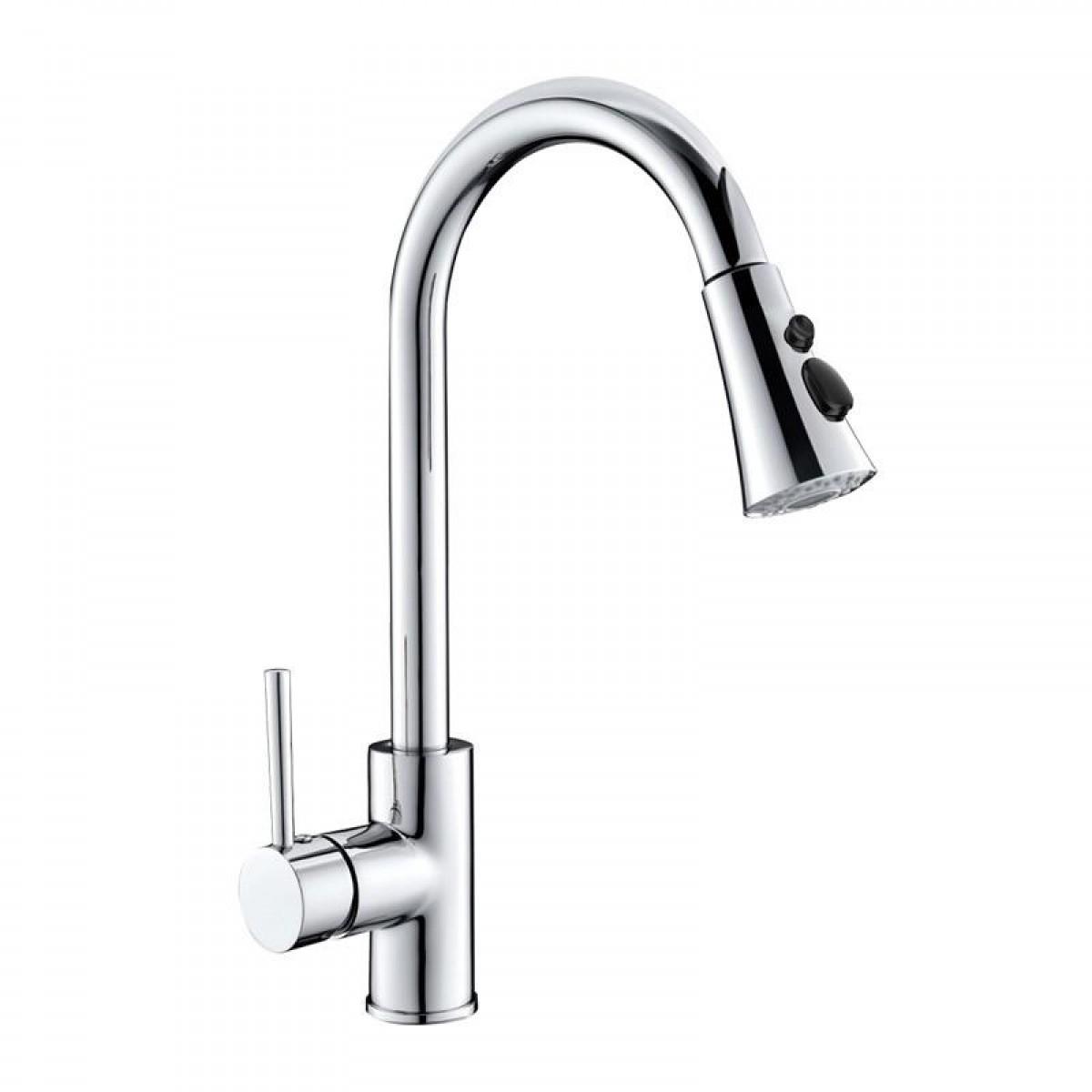 慢道卫浴 家用洗手盆洗脸盆抽取式厨房龙头 CF2002