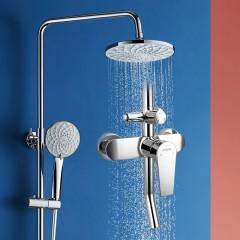 安华卫浴 淋浴花洒单把三功能明杆淋浴花洒 N3S961