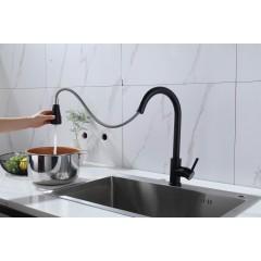 安华卫浴 单把单孔厨用抽拉龙头 N11C986MB