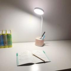 雅格LED护眼台灯 学生笔筒台灯 T109三挡调光+笔筒收纳