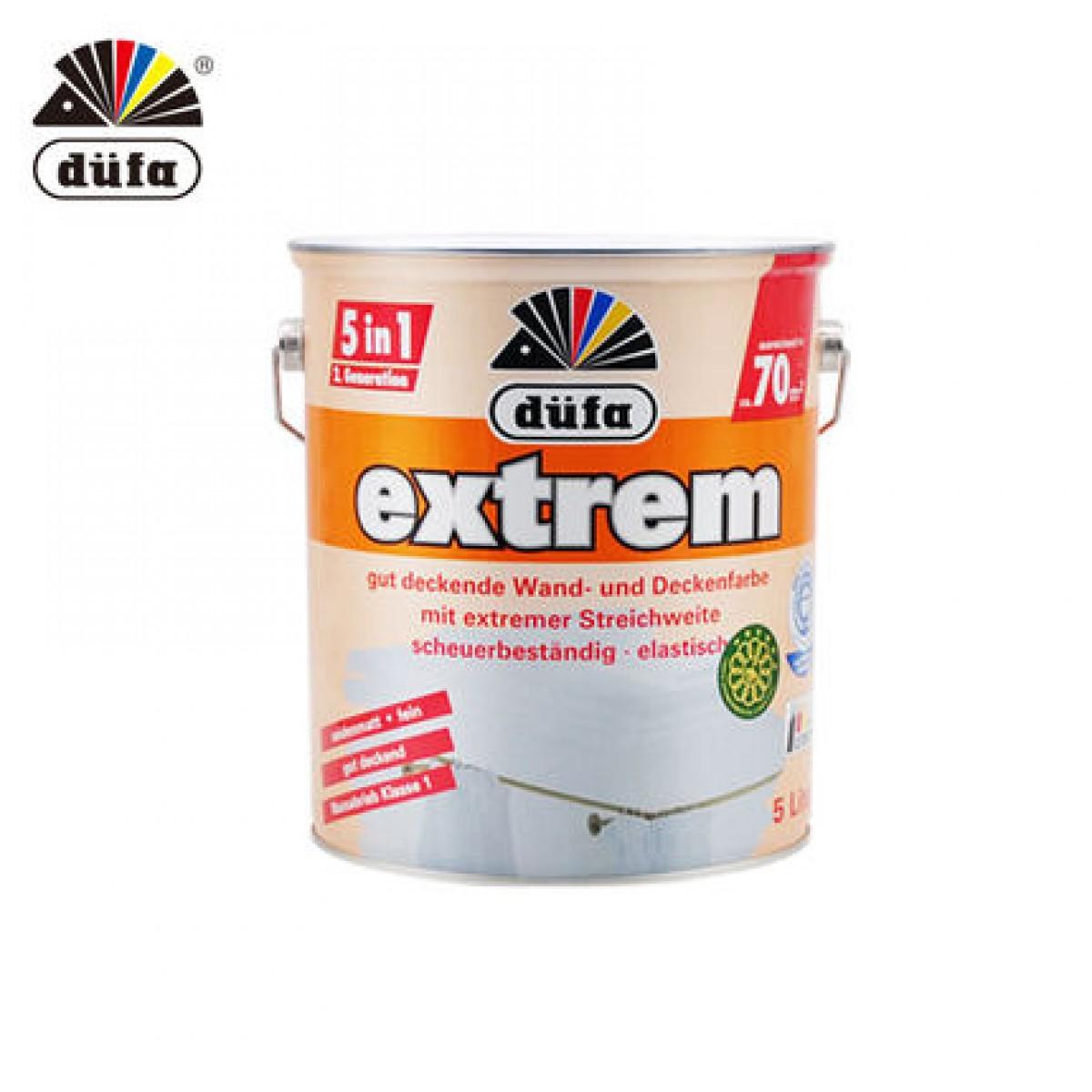 德国都芳第二代五合一墙面漆 5L乳胶漆水性漆环保涂料白色(不可调色)