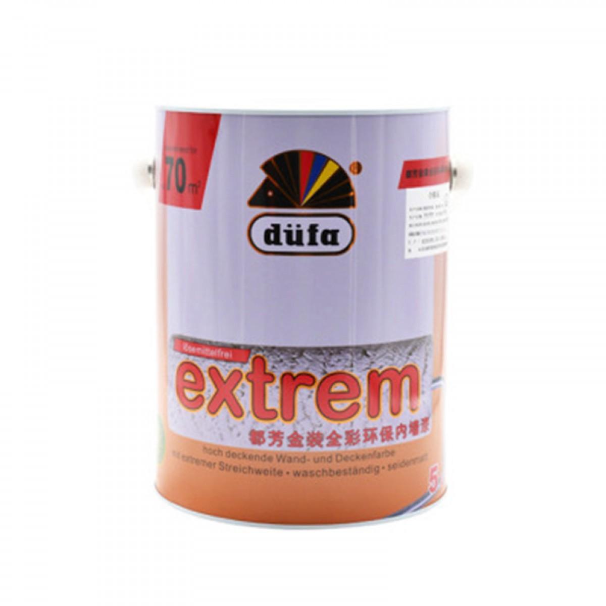 德国都芳全彩墙面漆乳胶漆水性漆涂料单桶5L白色