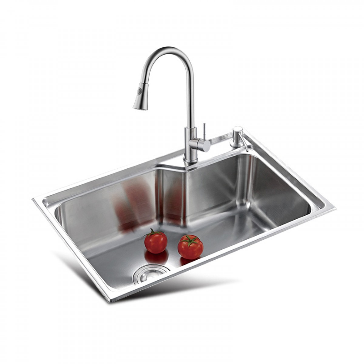 邦斯特 不锈钢单盆水槽+龙头套餐 6845L+2008