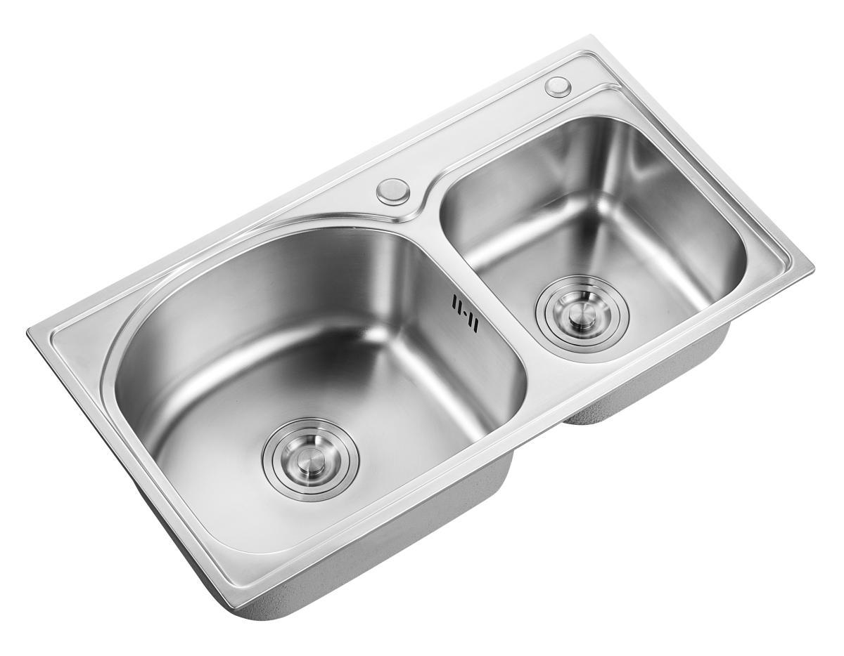 日丰卫浴 不锈钢双盆水槽 RF-SE784201B (不含龙头)