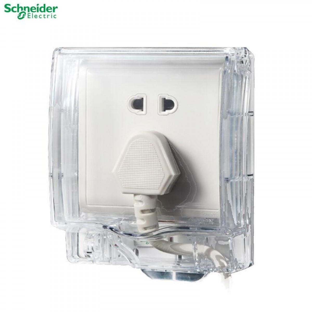 施耐德 IP55一位插座防水盖_透明